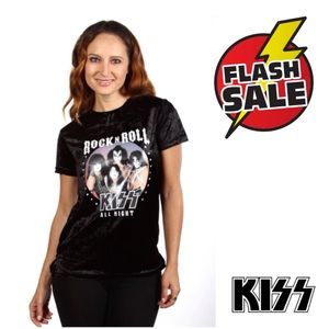 KISS JUNIOR VELVET TEE